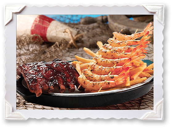 BBQ Ribs & Shrimp Combination